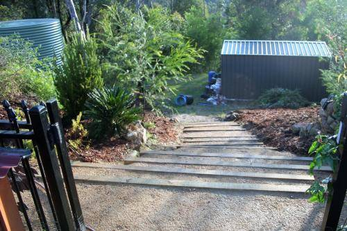 Stairs sloping block landscape construction blue mountains winmalee structural fresh perspective landscapes