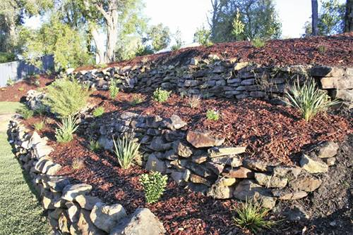 Stone wall paving pebbles, retaining wall, turf planting, garden maintenance, landscape construction blue mountains, structural landscaping, fresh perspective landscapes