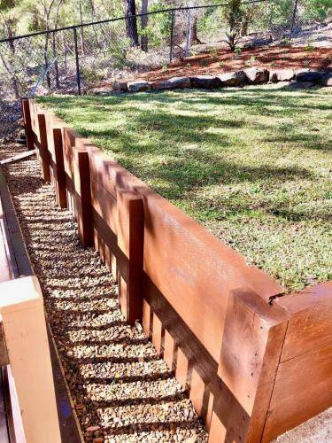 Timber Retaining Wall Winmalee