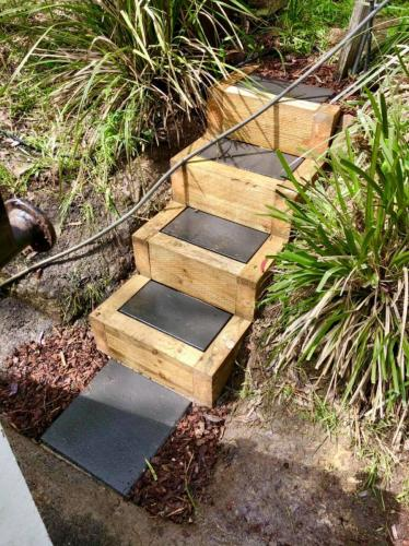 Timber framed boxed stairs